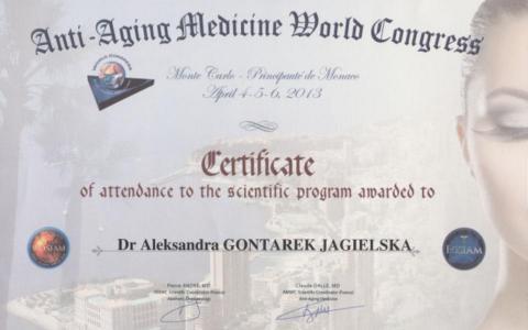 Sthetic Klinika Certyfikat